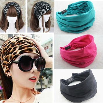 2015 New arrival Cotton Elastic Sports Wide women Headbands for women hair accessories turban headband headwear = 1930548228