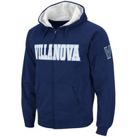 Villanova Wildcats Straight Name Full Zip Hooded Sweatshirt –