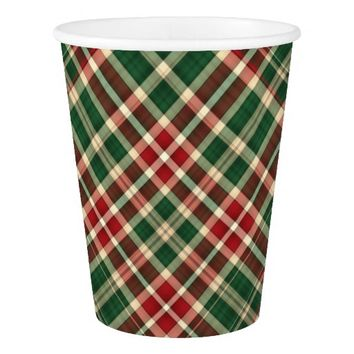 Christmas Plaid 08-PAPER CUPS