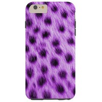 Purple Spotted Cheetah Fur Look Tough iPhone 6 Plus Case