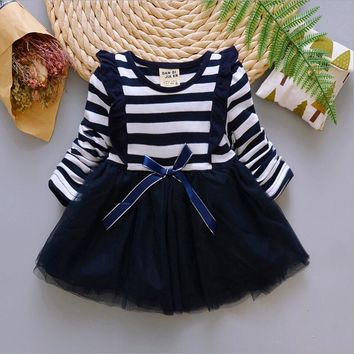 Princess Infant Dress Girl Clothing Birthday Party Dresses Winter Long Sleeve Toddler kids Girl Tutu dress for Girls Clothes