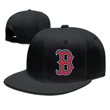 Boston Red Sox Logo Cotton Unisex Adult Womens Snapback Caps Mens Hip-hop Caps