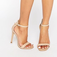 Boohoo Barely There Heeled Sandal With Straps at asos.com