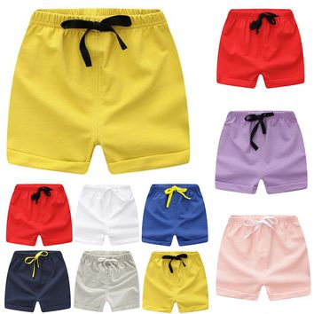 Kids Shorts For 0-2Y Children Summer Clothing Beach Short Jersey Candy Color  Girls Boys Pants Clothes A101 Toddler Sport Wear