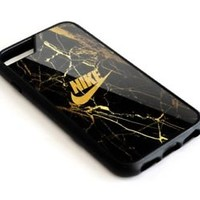 Best-Nike Gold Marble iPhone 5 5s 5c 6 6s 7 Plus Phone Case Cover
