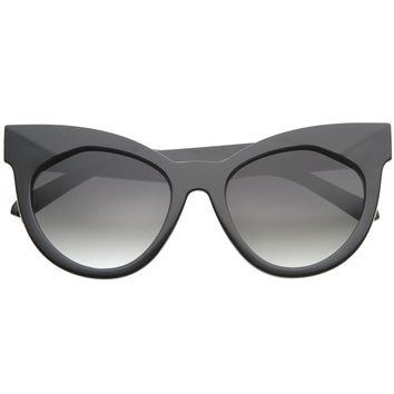 Oversize Modern Bold Flat Lens Cat Eye Sunglasses A167