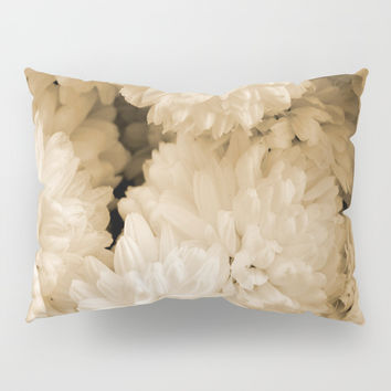 Monochrome Abstract Mums Pillow Sham by ARTbyJWP
