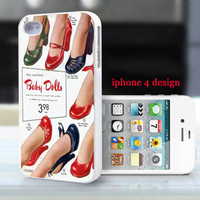 Vintage Shoe Ad Iphone 4 case, Iphone cover