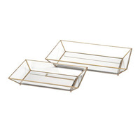 Maison decorative Glass Trays - Set of 2