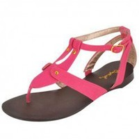 PINK EXQUISITE T-STRAP SANDAL @ KiwiLook fashion