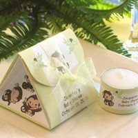 LIL BABY MONKEY candle origami baby shower box favors | LMK-Gifts - Paper/Books on ArtFire