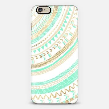 Mint + Gold Tribal iPhone 6 case by Tangerine- Tane | Casetify