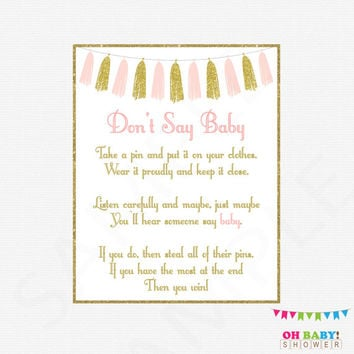 image about Free Don't Say Baby Printable called Boy or girl Shower Clothespin Video game - Little one Shower Invites
