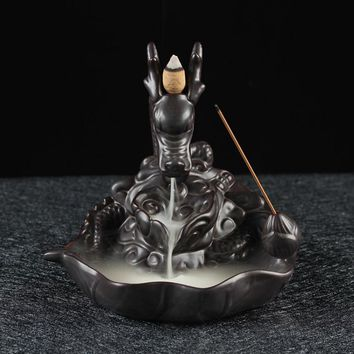 Big dragon Backflow Incense Burners or can choose different scents cones in box for Home Decoration as Xmas Gift
