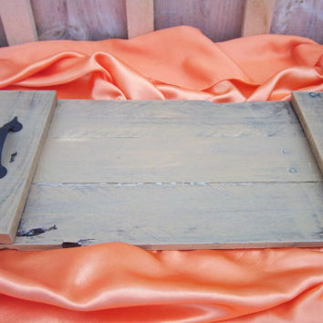 Rustic Pallet Tray-Decorative Tray-Brown Tray