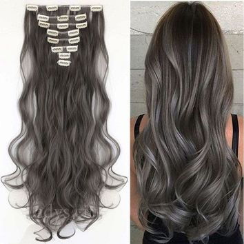 Mega Thick Clip In Hair Extensions Straight Full Head as Human Hair Extention H1