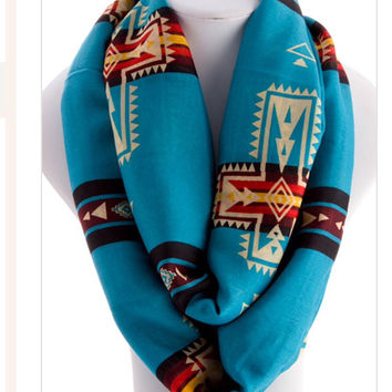 Tribal Infinity Scarf Aztec Scarf Best Selling Items Womens Scarves Summer Scarf - By PIYOYO