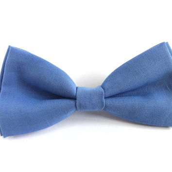 Light Blue Bow Tie, Mens Bow Tie, Bow Tie