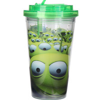 Disney Toy Story Aliens Flip Straw Acrylic Travel Cup