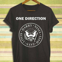 Screenprint funny popular shirt on etsy one direction ramones band for t shirt mens, t shirt woman available size by RnhKaos