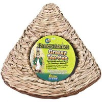Critter Ware Grassy Tee Pee Small Pet Hideout Sz: Lg
