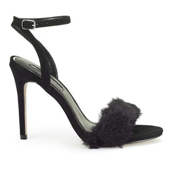 CLARLY Faux Fur Sandals