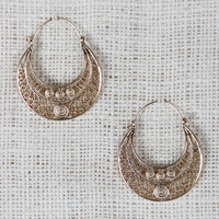 Bohemian Crescent Dangle Earrings