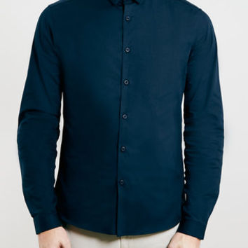 Premium Navy Tonic Long Sleeve Smart Shirt - New This Week - New In