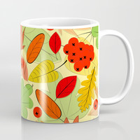Autumn leaves Coffee Mug by Graf Illustration