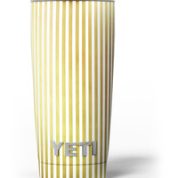 The Golden Vertical Stripes Yeti Rambler Skin Kit