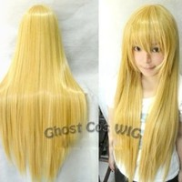 HealthTop Vocaloid New Long Cosplay Party Warm Blonde Straight Wig 100cm