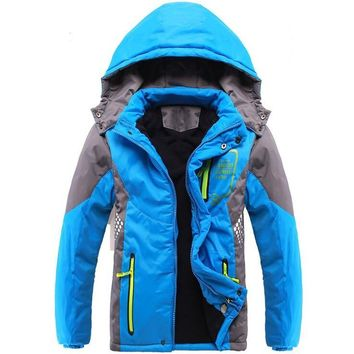Winter Thicken Children Outerwear Warm Coat Sporty Kids Clothes Double-deck Windproof Boys Girls Jackets For 3-14T