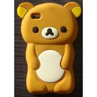 NanoCell4All Ipod Touch 4 4th Generation Brown Bear 3D Case Cover Protector plus NanoCell4All Premium Capacitive Stylus Pen