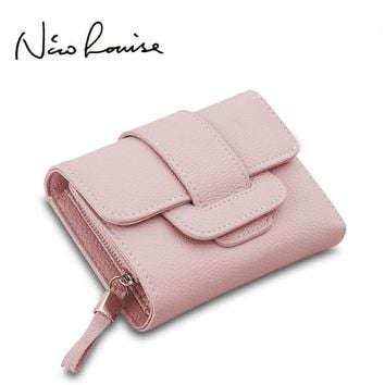 2017 New Luxury Soft Leather Women Hasp Wallet Fashion Tri-Folds Clutch For Girls Coin Purse Card Holders Female Blue Money Bag
