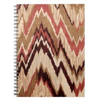 Hipster Girly Brown Red Colorful Zig Zag Pattern