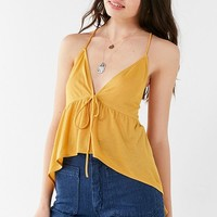 UO Alice Peplum Tie Tank Top | Urban Outfitters