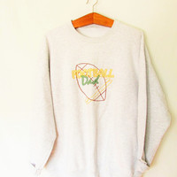 Vintage Embroidered Football Dad Sweatshirt