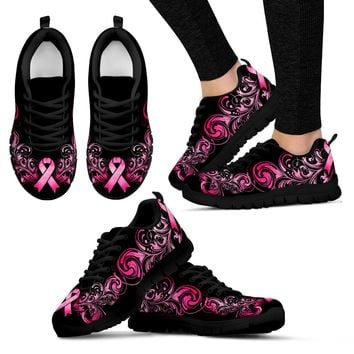 Breast Cancer Awareness Shoes (Black)