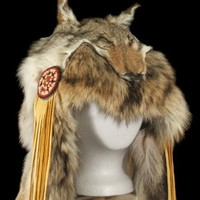COYOTE SHAMAN WARBONNET HEADDRESS