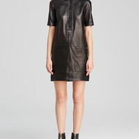 Burberry Brit Araminta Leather Shirt Dress