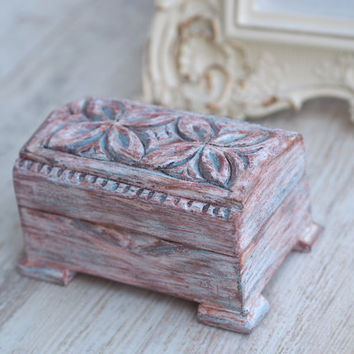 Shabby Chic Wedding Box, White Rustic Box, Small White Box, Rustic Ring Box, Proposal Box