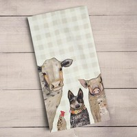 Cattle Dog and Crew Tea Towels