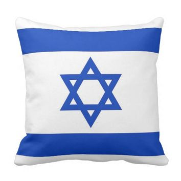 Israelian Flag on American MoJo Pillow