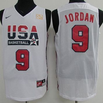 Nike Basketball Jersey USA dream team 1992 Barcelona Olympic Games # 9 Michael Jordan