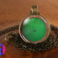 The Hobbit Door Lord of the Rings LotR Fashion Necklace Pendant Jewelry Art Gift