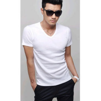 Mens Casual V-Neck Tee