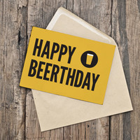 Birthday Card / Funny Birthday / INSTANT DOWNLOAD / PRINTABLE / Happy Beerthday