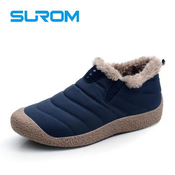 New warm men's winter boots waterproof upper material men snow boots men Casual Shoes