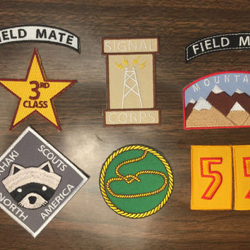 Moonrise Kingdom Iron on Khaki Scout patches