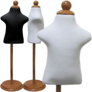 MN-302 Infant Dress Form with Adjustable Wood Stand (Sizes 6m-12m)